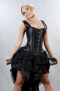 Black Burlesque Bustle Suzanna Skirt